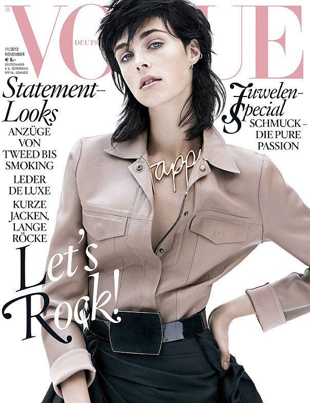 Edie Campbell -- Vogue Germany, November 2013