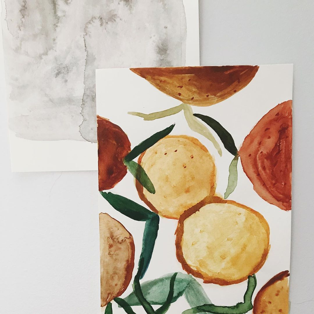 "Shannan Jessie on Instagram: ""Mandarins for winter . . . . . . . . #showyourwork #instaartwork #instaart #thenativecreative #creativityfound #thatsdarling…"""