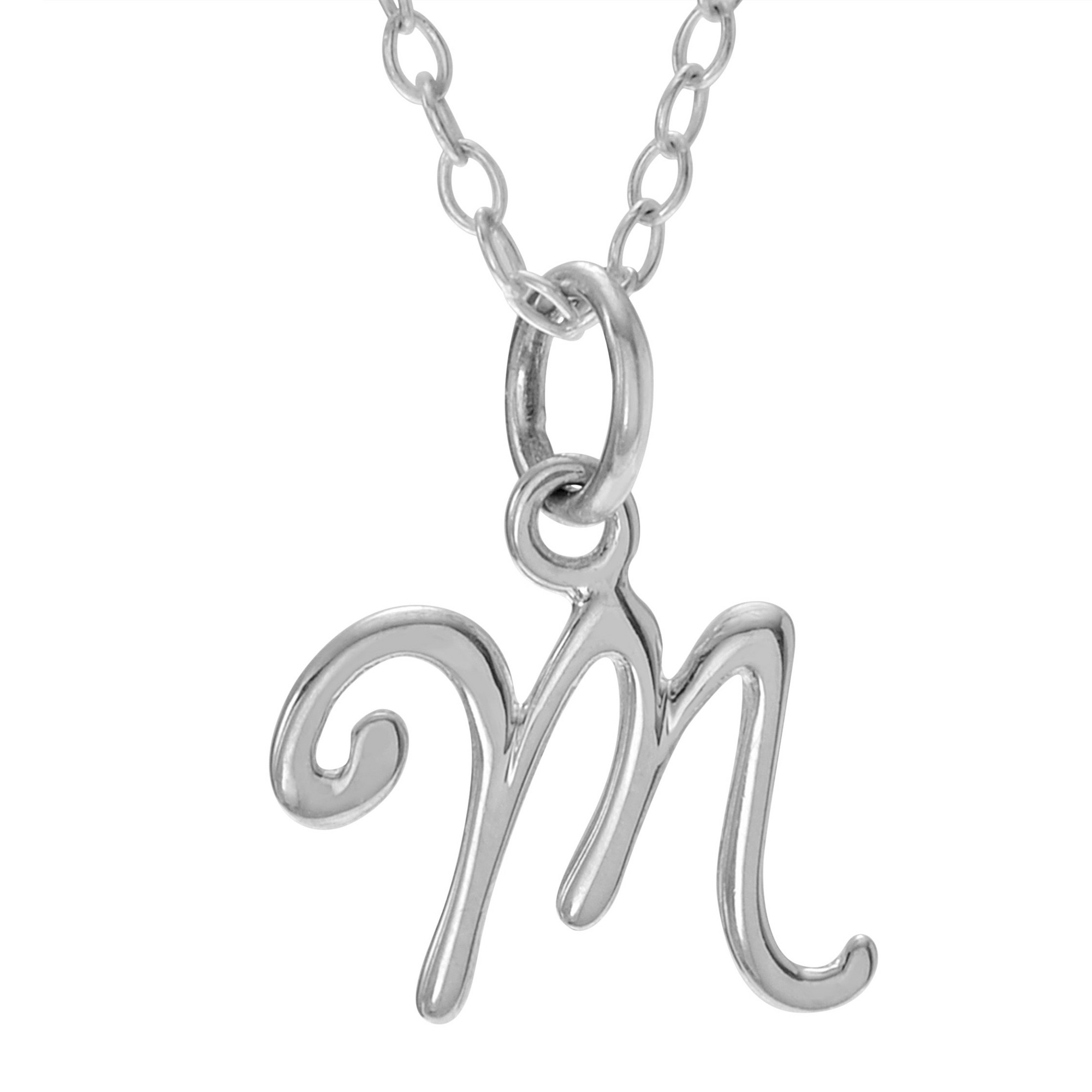 Womenus journee collection initial m charm pendant necklace in