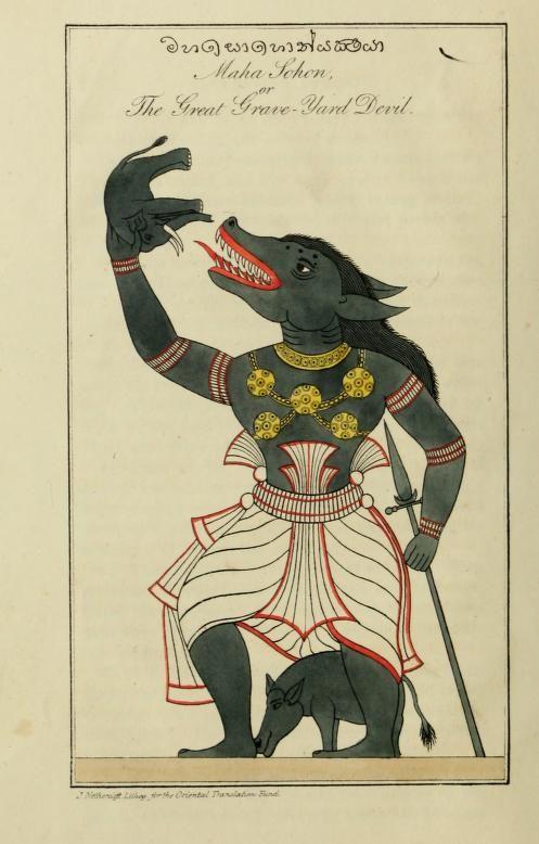 Maha Sohona, the Great Grave-Yard Devil (Sri Lanka)