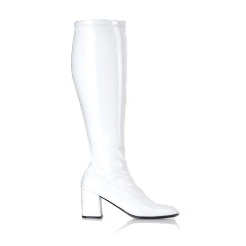49040d154fd Womens GOGO Boots WIDE WIDTH WIDE CALF Stretch Patent Boot 3 Inch ...