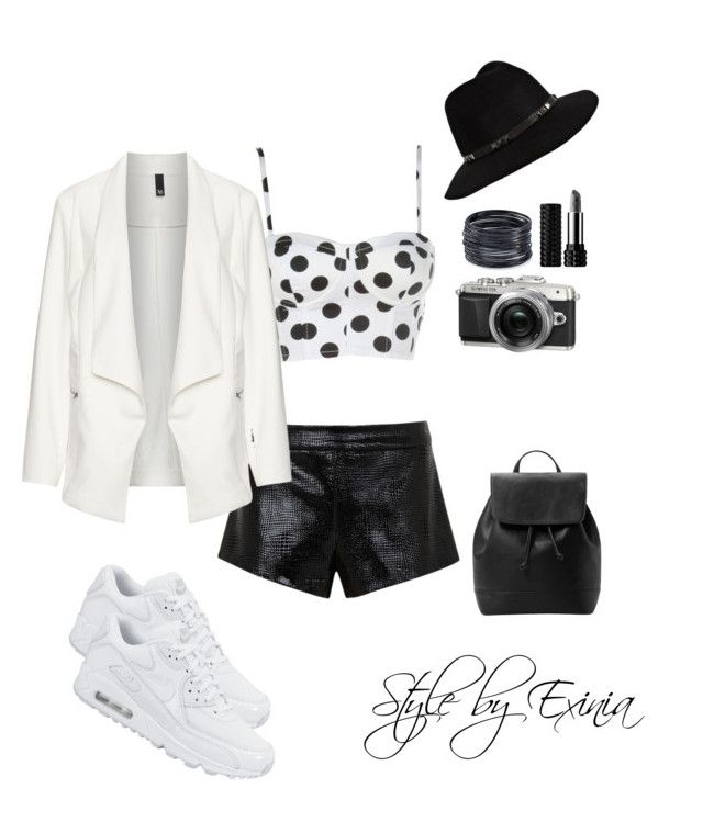 """Untitled #129"" by classicblur on Polyvore featuring NIKE, Mason by Michelle Mason, Manon Baptiste, MANGO, Anine Bing, Kat Von D and ABS by Allen Schwartz"
