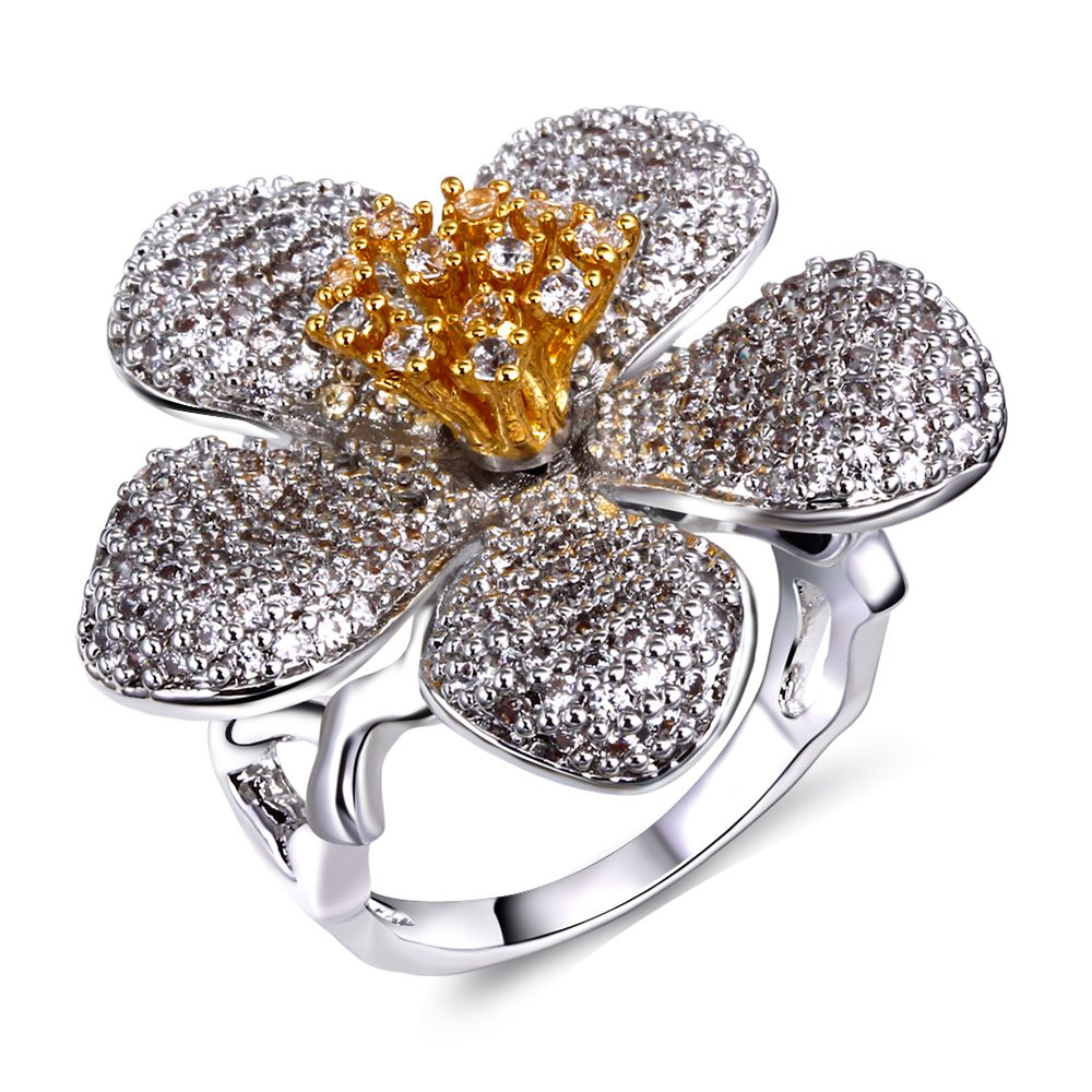 Find More Rings Information about 2015 Trendy Big Flower Ring For ...