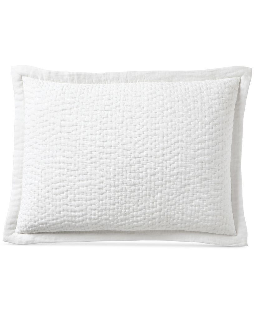 Cotton//Polyester Hotel Collection Woven Accent Quilted Standard Sham ONLY