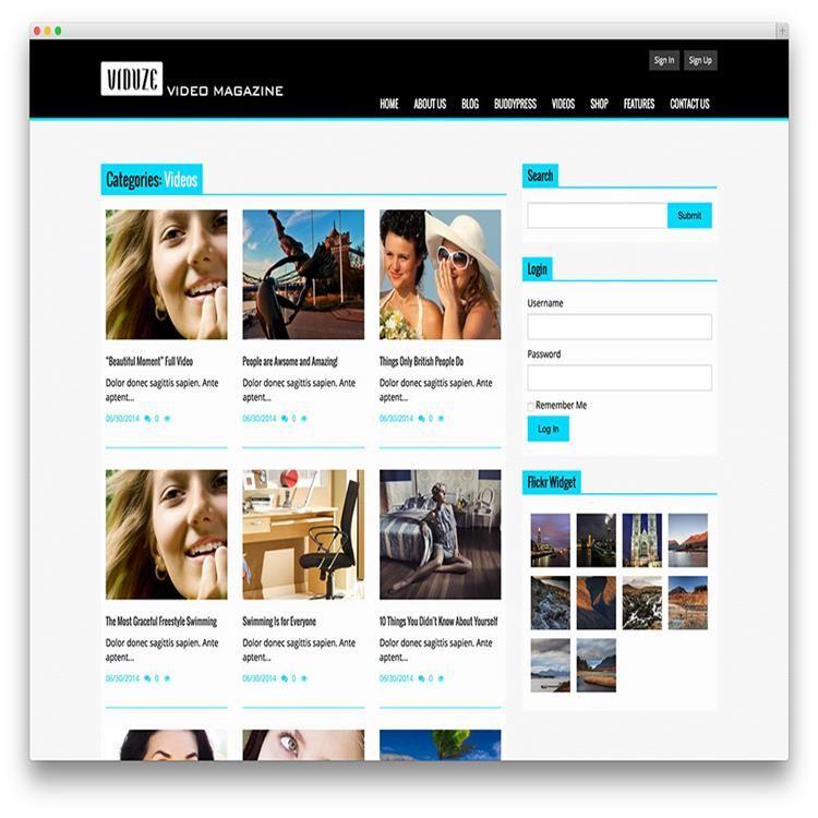viduze-video-magazine-wordpress-theme   Video Themes   Pinterest ...