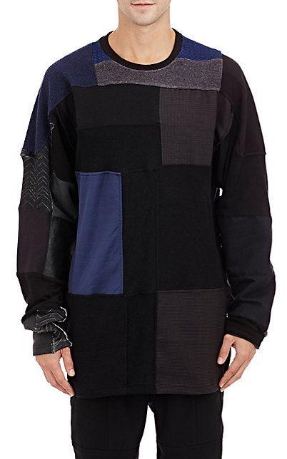 ac247289f Longjourney Mixed-Fabric Patchwork Sweatshirt - Crewneck - Barneys ...