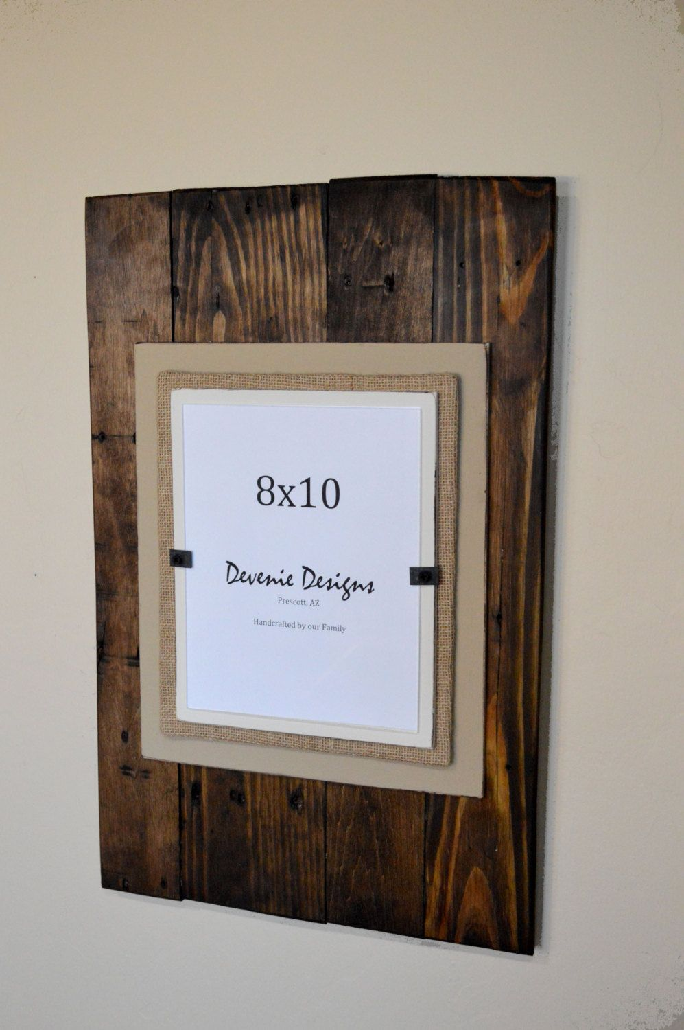 Plank Reclaimed Wood Frame - Holds 8x10 photo - 16x24\