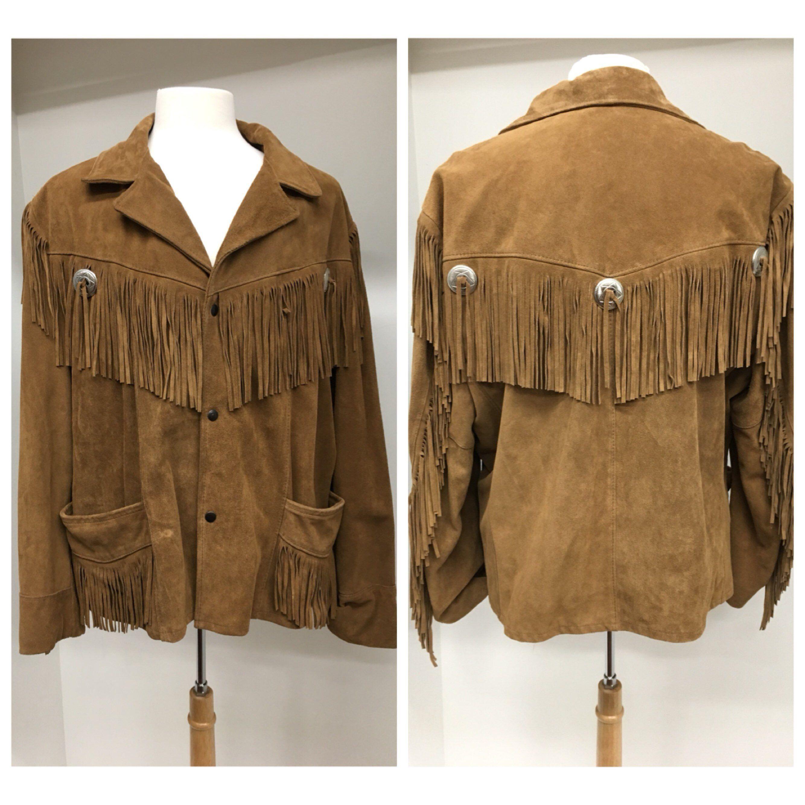 Excelled 90s Brown Suede Leather Fringe Jacket Excellent Etsy Fringe Leather Jacket Vintage Western Wear Fringe Jacket [ 2668 x 2668 Pixel ]