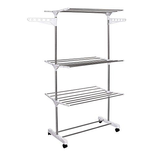Homdox Foldable Clothes Drying Rack Compact Laundry Clothes Storage Hanger  Homdox Http://www