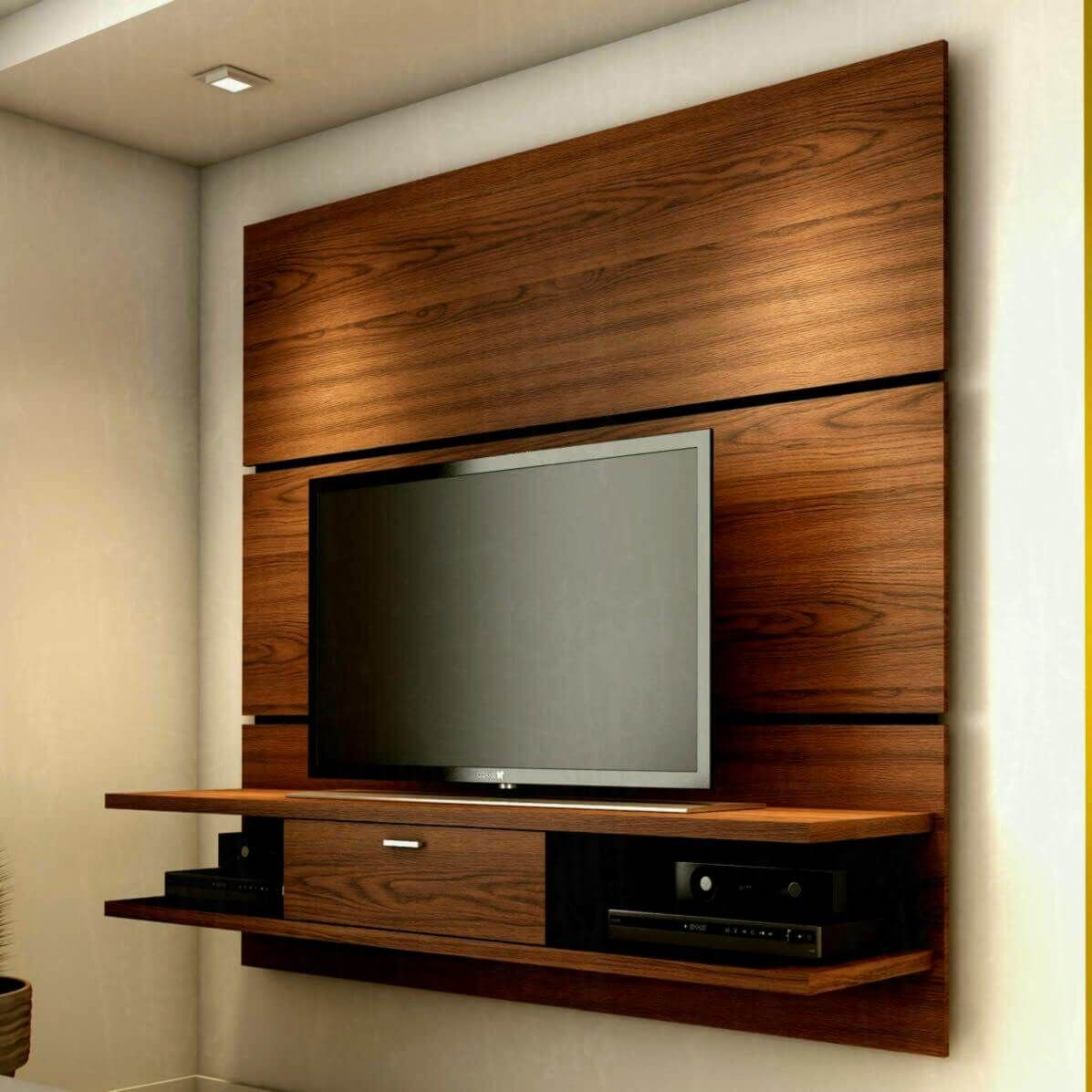 35 Modern Led Tv Wall Panel Designs For Your Living Room Wall Mount Tv Stand Tv In Bedroom Tv Stand Designs