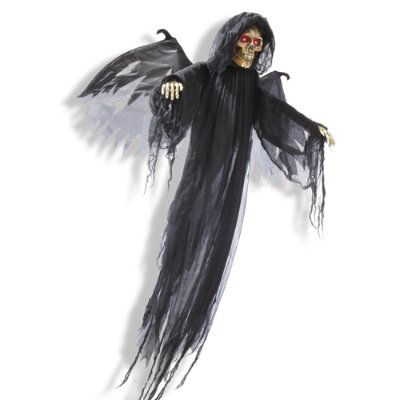 Animated Winged Reaper Halloween Decor Pinterest - animated halloween decorations