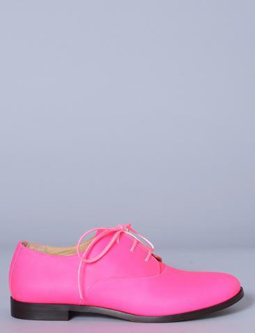 LIGNE 6 - MARTIN MARGIELA - neon lace-up oxfords