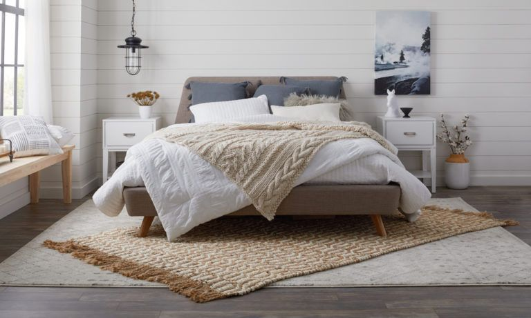 How To Pick The Best Rug Size And Placement Overstock Com Bedroom Rug Placement Layered Rugs Living Room Large Bedroom Rugs