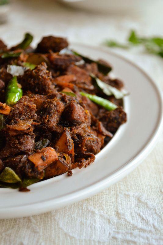 Kerala Beef Fry Nadan Beef Fry Indian Food Recipes Kerala Food Beef
