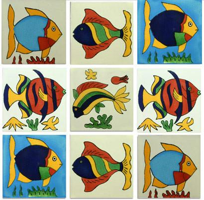 Great Fish Mexican Talavera Tile Collection Home Design Ideas