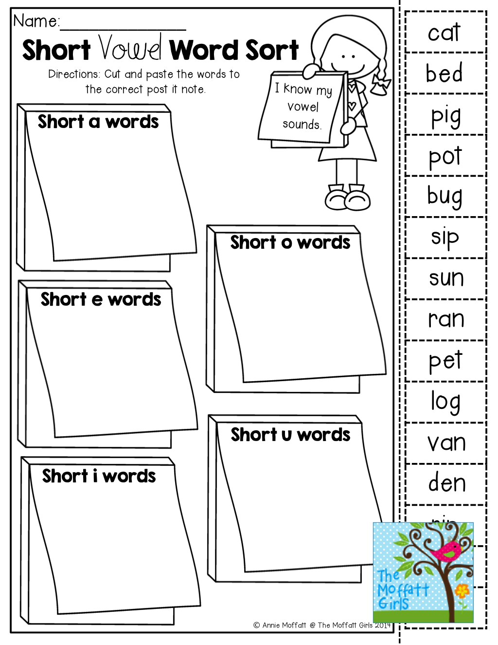 Short vowel word sort and TONS of Back to School resources ...