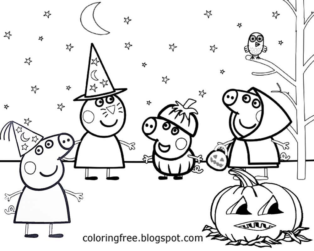 Happy Halloween Peppa Pig Free Printable Coloring Pages Peppa Pig Coloring Pages Free Halloween Coloring Pages Peppa Pig Colouring