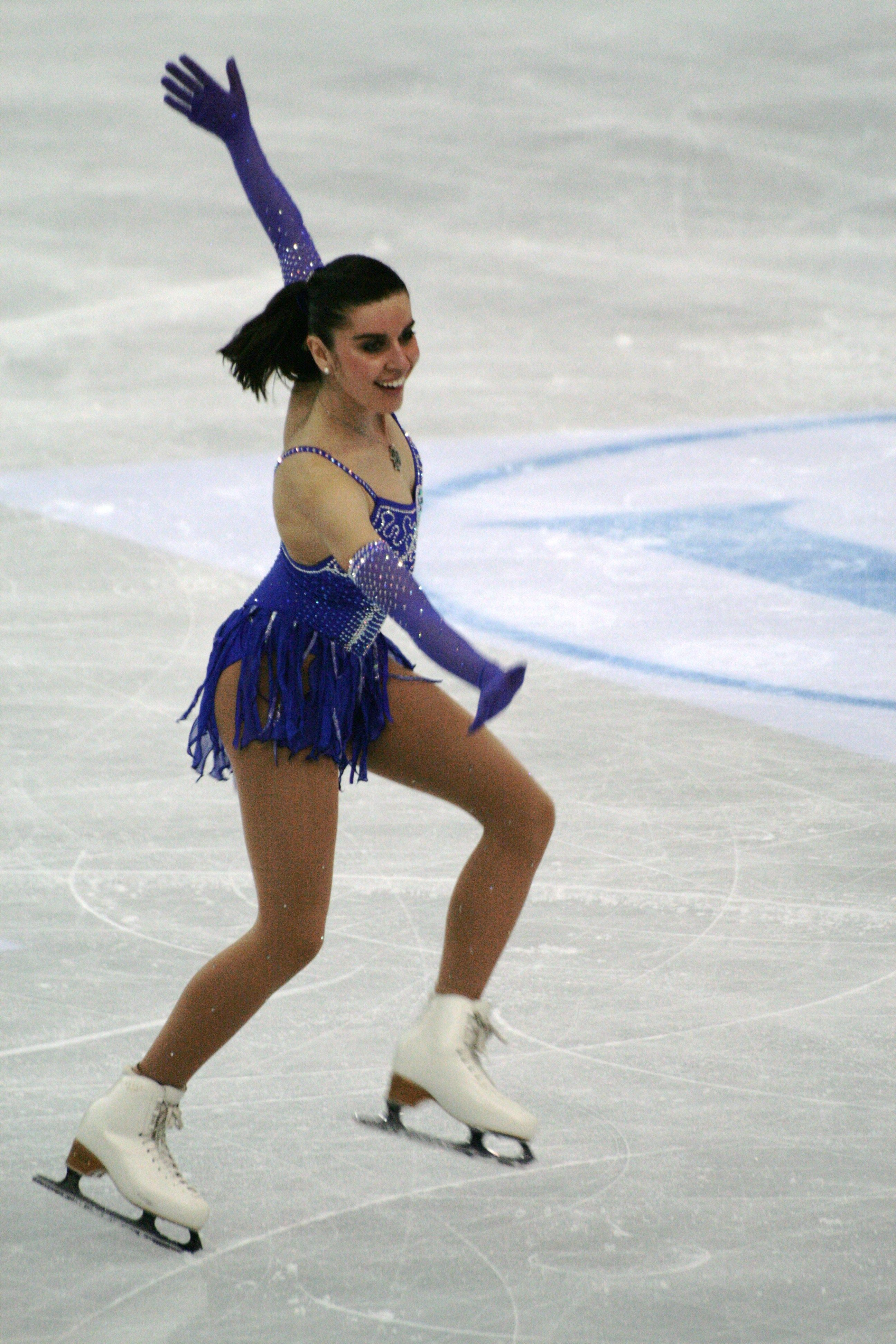 Valentina Marchei - - Blue Figure Skating / Ice Skating dress inspiration for Sk8 Gr8 Designs.