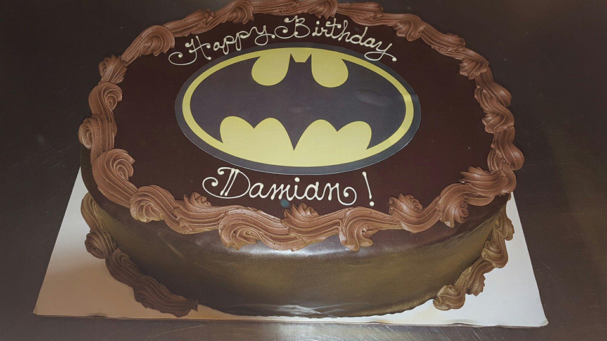 Batman Logo Cake The Inside Is Chocolate Cake With Yellow