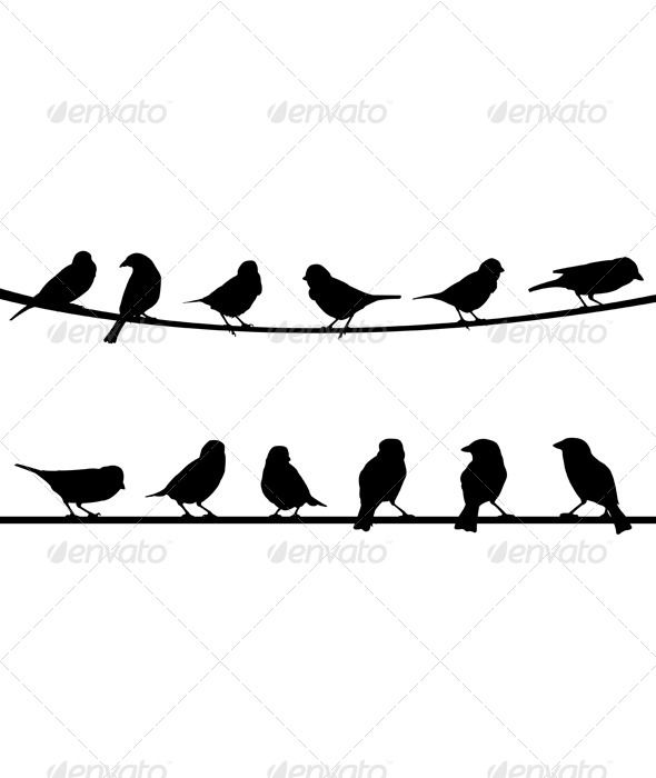 Bird on a wire template - photo#39