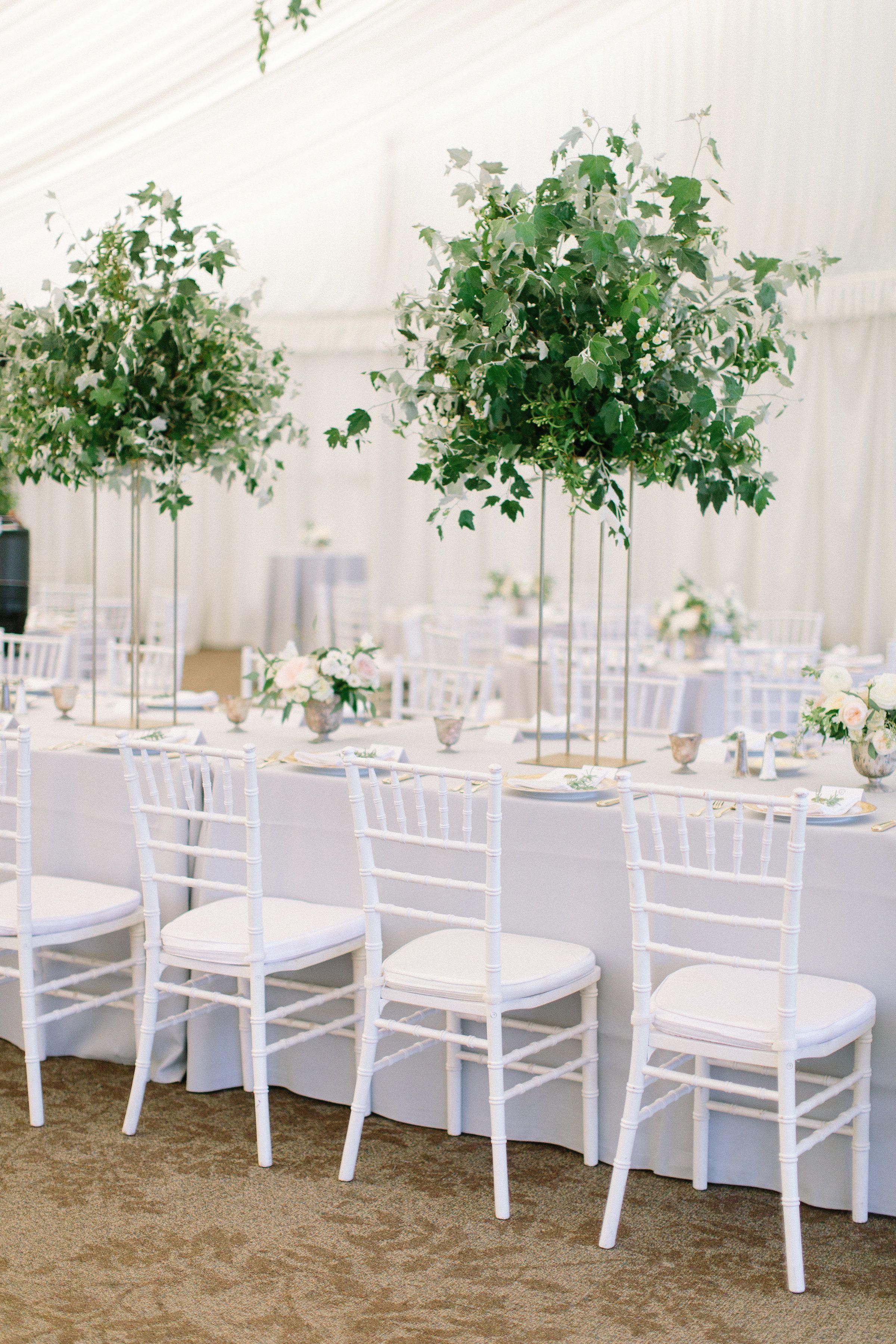 Modern Ivy Pedestal Centerpieces | Wedding centerpieces ...