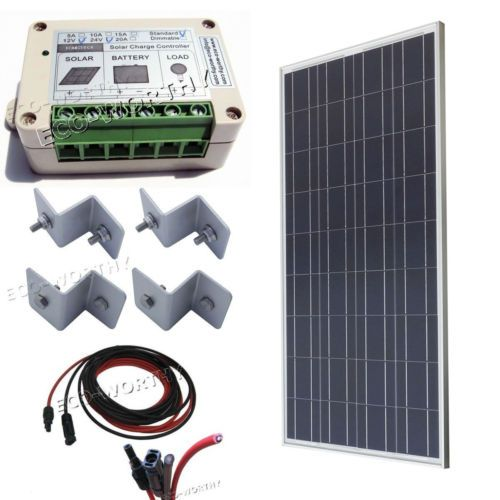 100w Solar Panel Kit 100w W 15a Controller For Boat Home Off Grid System Solar Kit Solar Pv Panel Solar Panel System