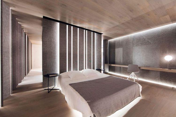 Wände und das Bett von unten indirekt beleuchtet   Architecture ...