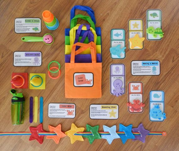 Busy Bags Set For 1 Year Old Toddler Activities Toddler
