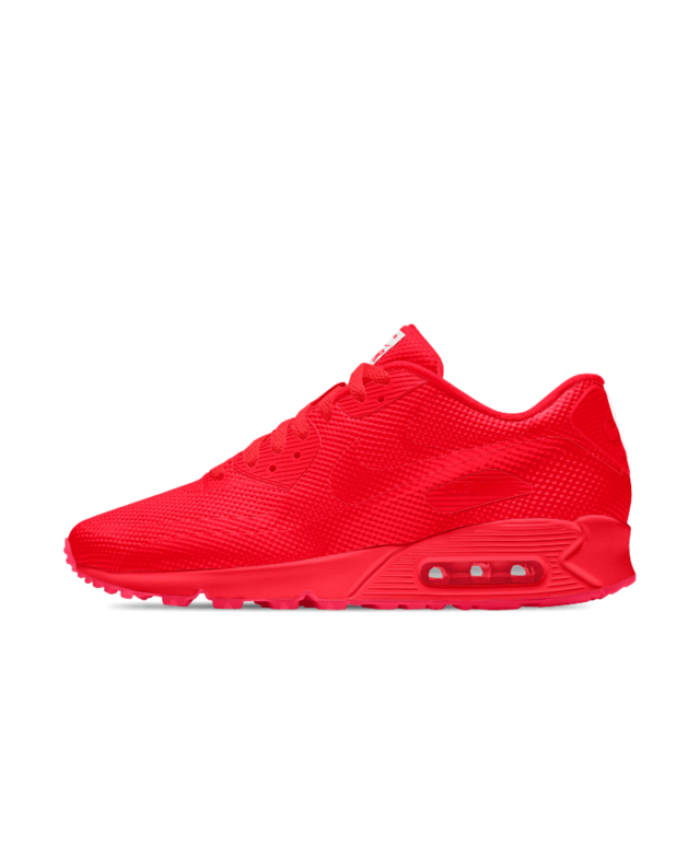 on sale 20bb0 bfaa9 Nike Air Max 90 HYP iD University Red Mens Shoe