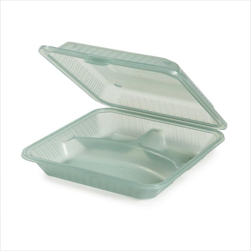 Eco Takeouts 9 Inch X 9 Inch 3 Compartment Food Container 2 75