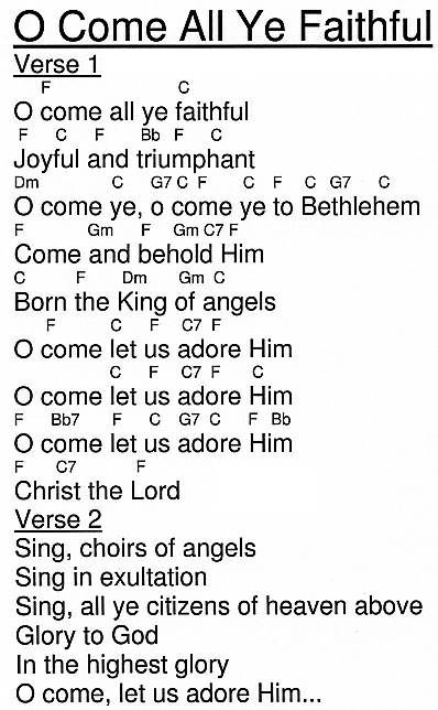 oh come all ye faithful lyrics | Come All Ye Faithful | Making a ...