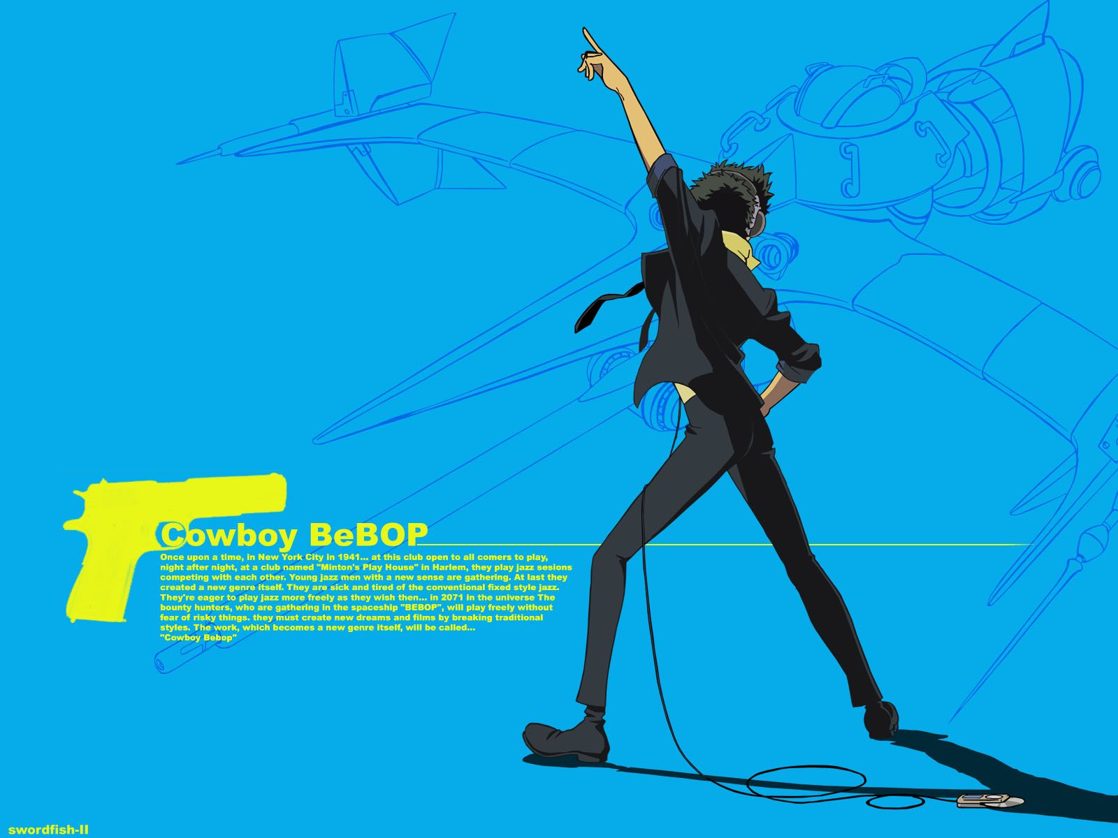 Spike Spiegel And Swordfish 2 wallpaper Cowboy Bebop