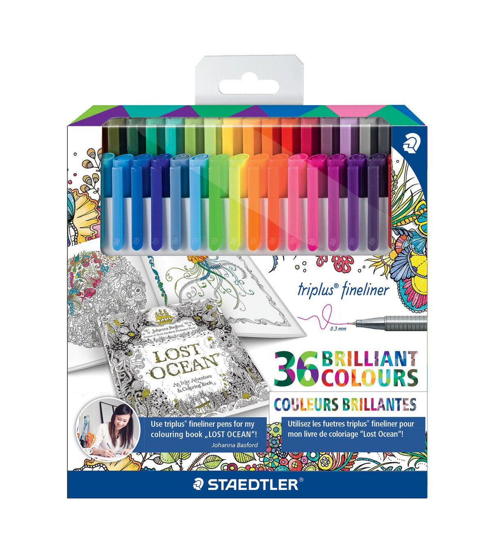Staedtler Johanna Basford Triplus Fineliner Pen Set Joann Fineliner Pens Basford Coloring Book Coloring Book Set