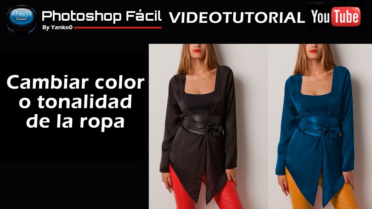 Cambiar el color de la ropa Photoshop by @yanko0