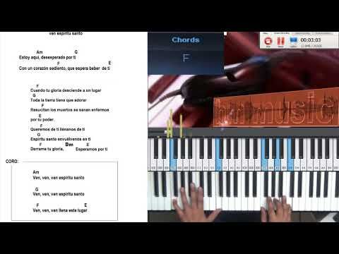 Ven Espritu Santo Ven Am Piano Tutorial Piano Songs Tutorials