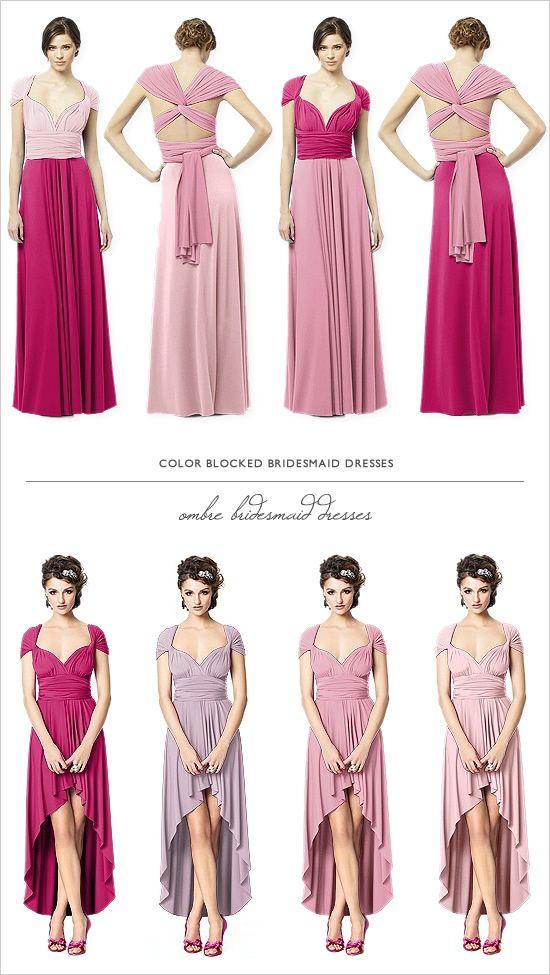 Dessy And Wedding Chicks Twist Wrap Dresses | Vestido convertible ...