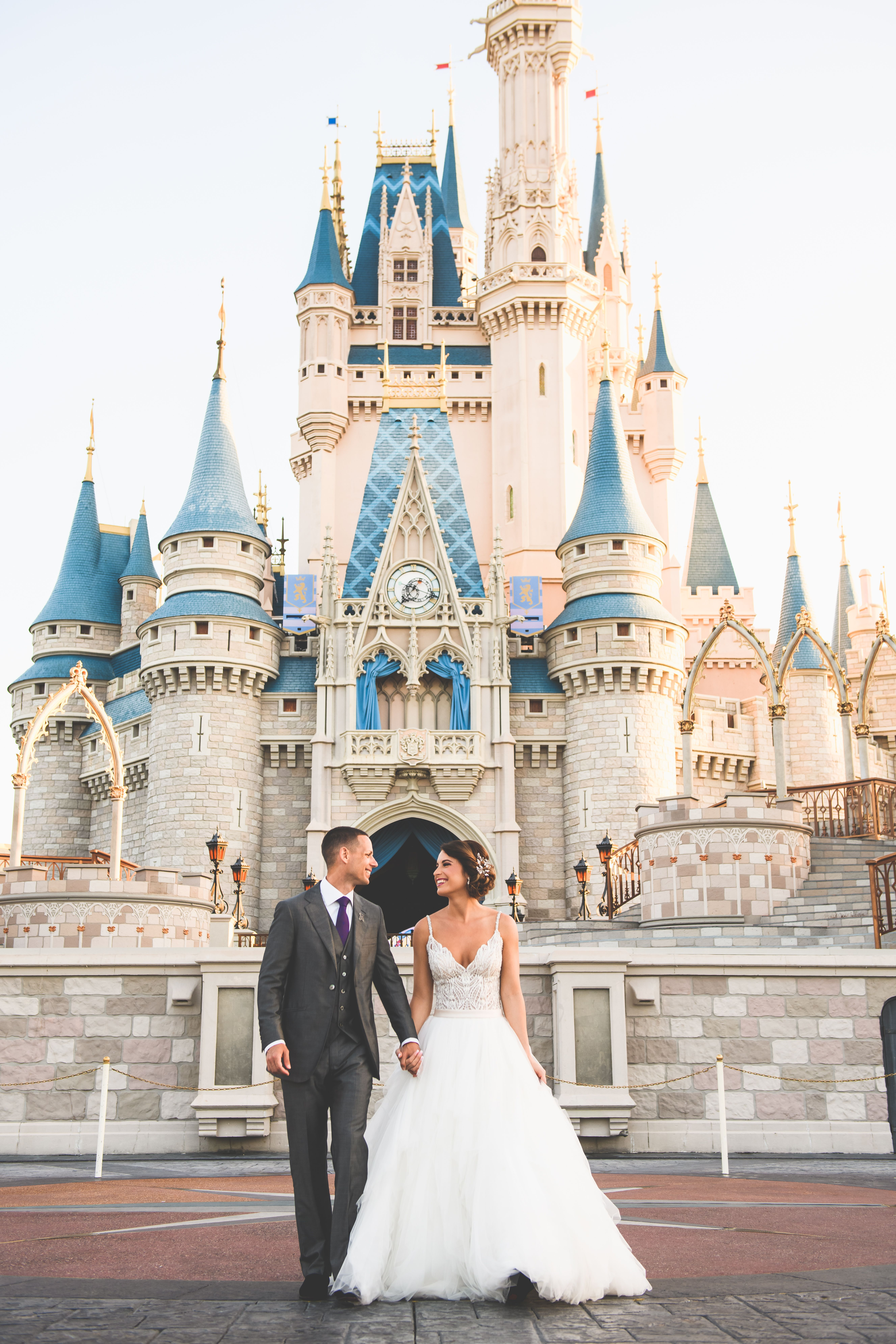 Disney S Fairy Tale Weddings Disney World Wedding Disney Wedding Disney Bride