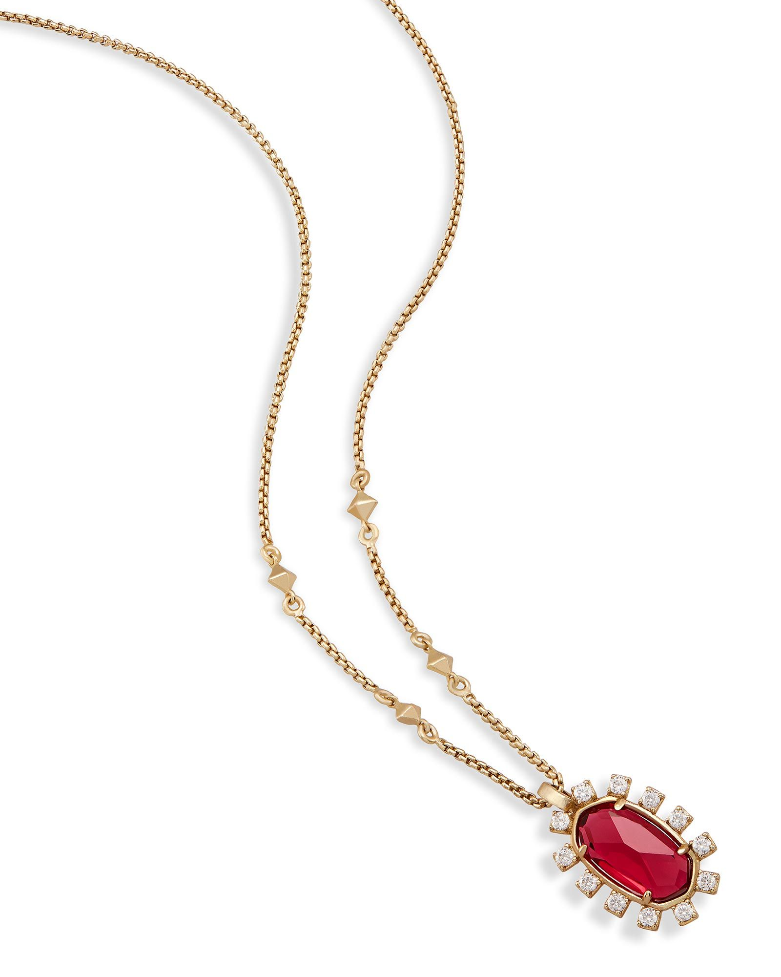 Shop brass pendant necklaces at kendra scott with a delicate berry