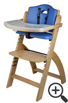Abiie Beyond Junior Wooden Adjustable High Chair Blueberry With