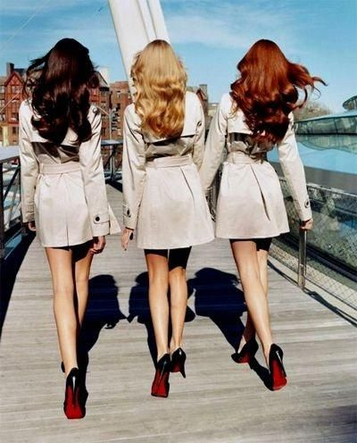 brunette, blond, red