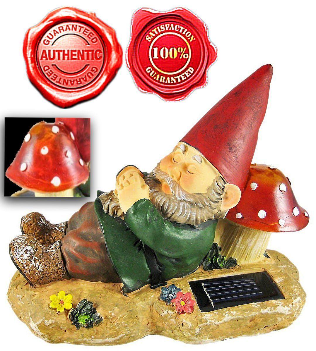 Amazon.com: Brilliant & Mo Sleeping Gnome Garden Solar Light: Home Improvement