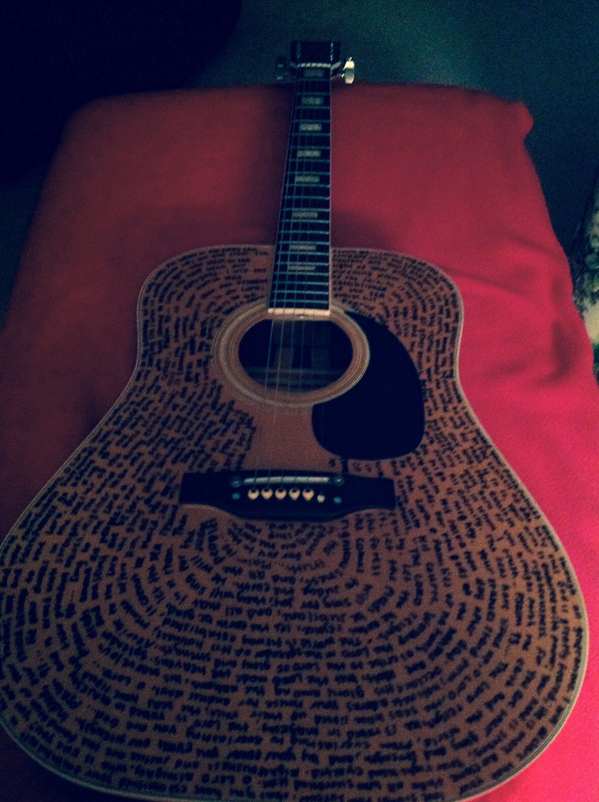 Write Scripture On Your Guitar Mine Turned Out Pretty Good With