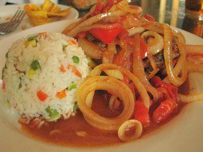 pollo encebollado y arroz con gandules receta y preparacin