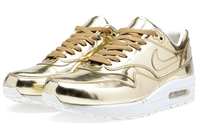 "detailed look 3cc73 96fb0 Available  Nike WMNS Air Max 1 SP ""Liquid Gold"""