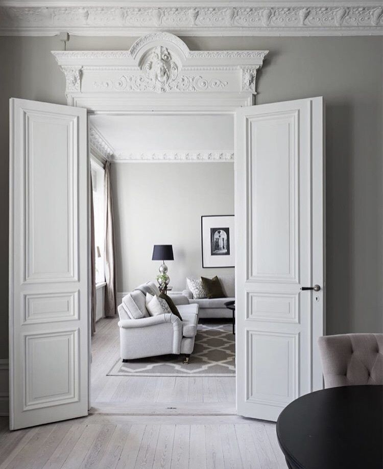 Fancy Moulding Interior StylingFront RoomsLiving Room DecorWhite Houses Wall