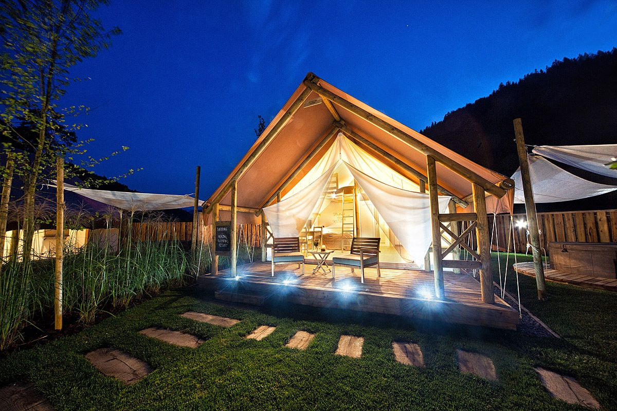 Glamping Tents In Herbal Glamping Ljubno Glamping Cool Places