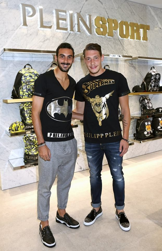 PHILIPP PLEIN CELEBRATES THE LAUNCH OF PLEIN SPORT IN MILAN - Davide  Zappacosta, Andrea Belotti