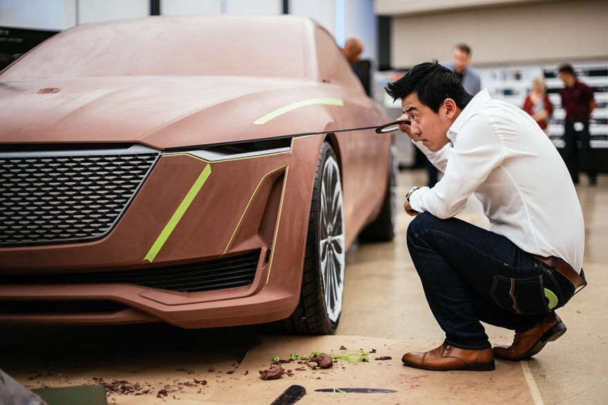 #Cadillac exterior designer Frank Wu working on a clay model of the Escala concept. Video here > https://www.formtrends.com/executive-design-director-andrew-smith-on-the-cadillac-escala-concept/