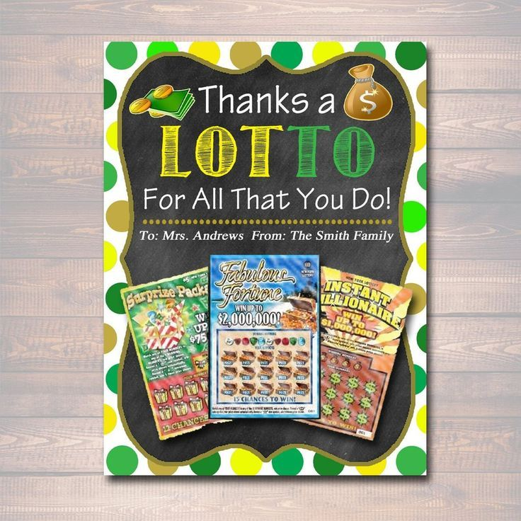 EDITABLE Thank You a Lottery Gift Card Holder, Printable Teacher Appreciation, Xmas Coach Gift, INSTANT DOWNLOAD Nanny Babysitter Gift Card #employeeappreciationideas