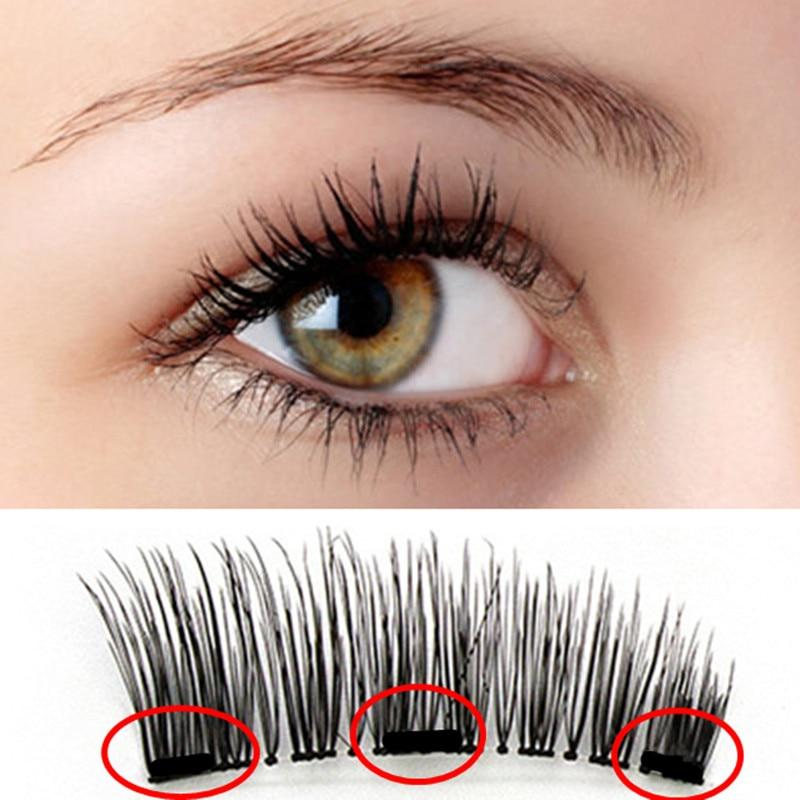 how to put on magnetic eyelashes with applicator
